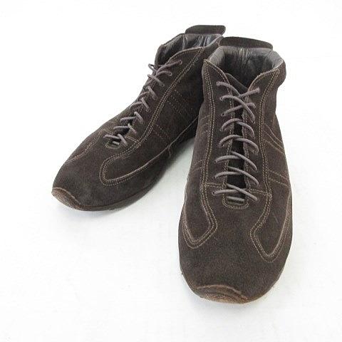 【中古】サントーニ SANTONI スニーカー ハイカット スエード 紳士靴 ブラウン 茶 6 メンズ 【ベクトル 古着】 200612 ベクトルプレミアム店