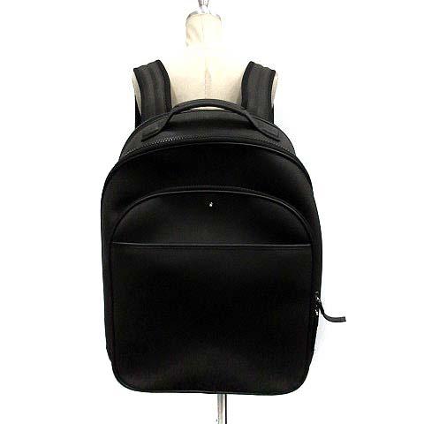 【中古】 モンブラン MONT BLANC リュックサック バックパック 黒 /YI9 ■SM メンズ 【ベクトル 古着】 190404