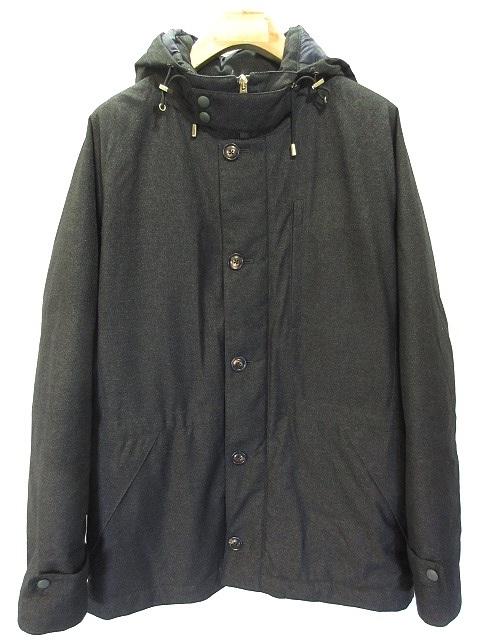 サマス samas ダウン ジャケット フーデッド コート ジャンパー 50 チャコール グレー メンズ 【中古】【ベクトル 古着】 181003 ベクトル店