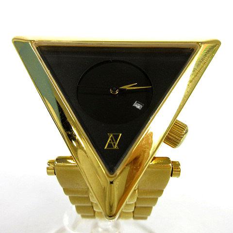 アライブ ALIVE 腕時計 A-FRAME METAL クォーツ オールゴールド ブラック 限定品 メンズ 【中古】【ベクトル 古着】 181019 ベクトル店