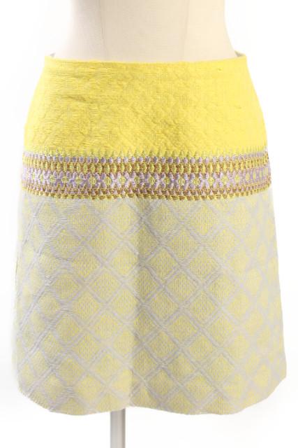 中古 マカフィー MACPHEE トゥモローランド ジャガード スカート レディース 大人気 新作製品、世界最高品質人気! 190416 ベクトル 古着 yt0416