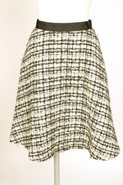 中古 エムプルミエ M-Premier チェック フレア 予約販売品 国内正規品 スカート nn0423 ベクトル レディース 古着 190423