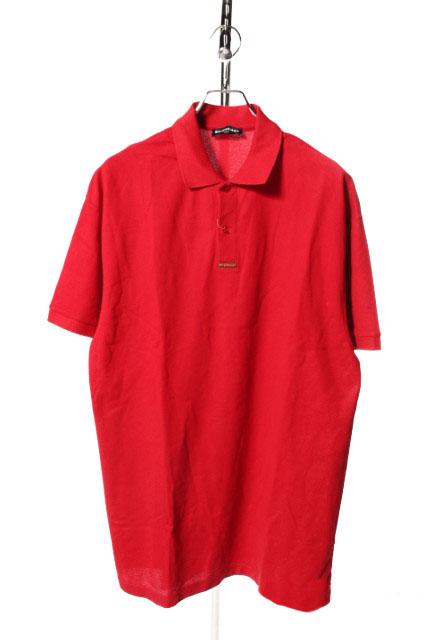【中古】 バレンシアガ BALENCIAGA 18SS ポロシャツ 半袖 クラシックロゴ S 赤 レッド /yy0427 メンズ 【ベクトル 古着】 190427