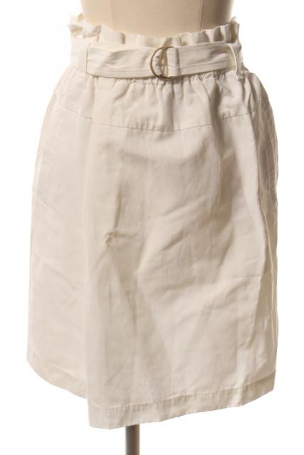 中古 マカフィー MACPHEE トゥモローランド リネン混 ウエストギャザー ベクトル hn0509 大放出セール スカート 190509 レディース 古着 爆安