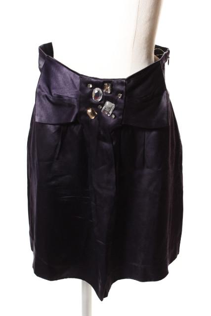 中古 ジュエルチェンジズ オンラインショッピング Jewel Changes アローズ ビジュー装飾 ベクトル 190513 古着 ☆a0513 レディース スカート 未使用品