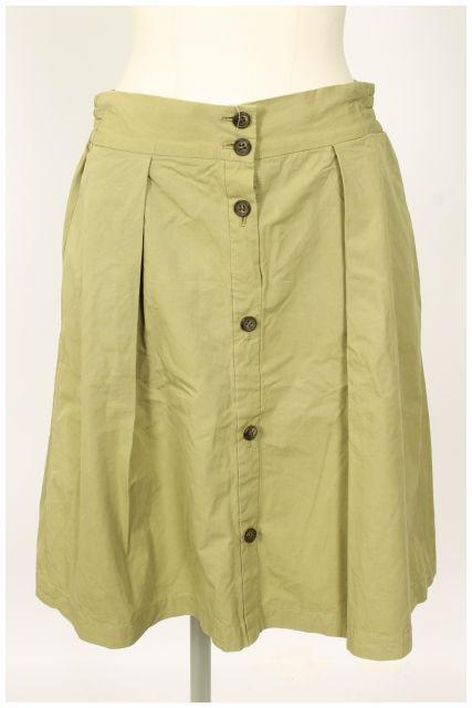 時間指定不可 中古 フレームワーク Framework 15SS ボタンデザイン スカート ベクトル 古着 年間定番 レディース 190513 mm0513