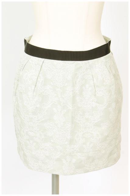 (訳ありセール 格安) 中古 ジルバイジルスチュアート JILL by JILLSTUART フラワー刺繍 スカート 在庫限り レディース 190528 古着 ベクトル hn0528