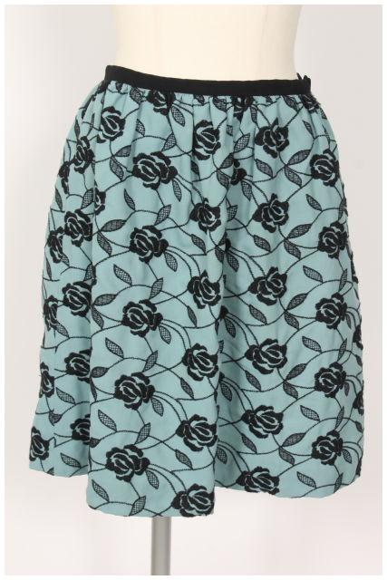 SEAL限定商品 中古 リッチミー Riccimie ニューヨーク フラワー刺繍 休日 スカート tk0531 古着 ベクトル 190531 レディース