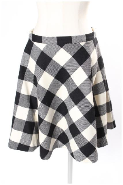 中古 ユナイテッドアローズ UNITED ARROWS ブロックチェック サーキュラ 古着 スカート 190409 新作 人気 レディース kk0409 ベクトル 世界の人気ブランド