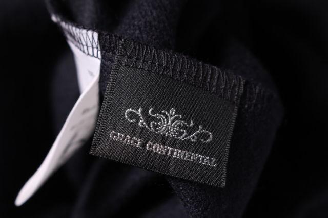 グレースコンチネンタル GRACE CONTINENTAL 17AW ワンピース ロング 長袖 ギャザー ウール 36 紺 ネイビーkt0415 レディースベクトル 古着1904157bfY6gy