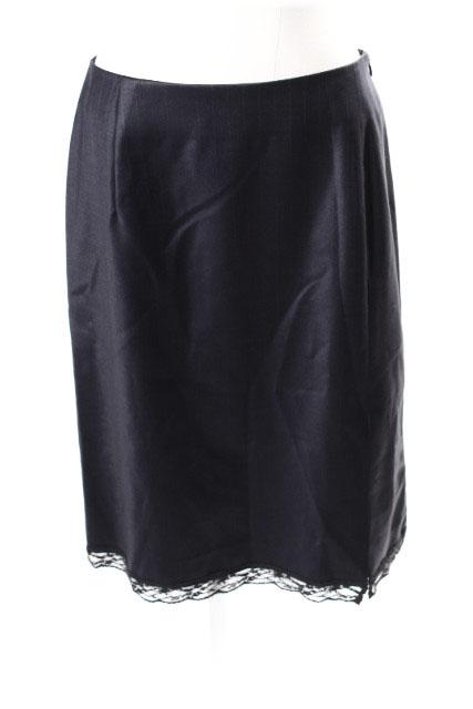 中古 アクアガール aquagirl アウトレット 裾レース 店舗 ストライプ スカート レディース 古着 190507 ベクトル ayy0507