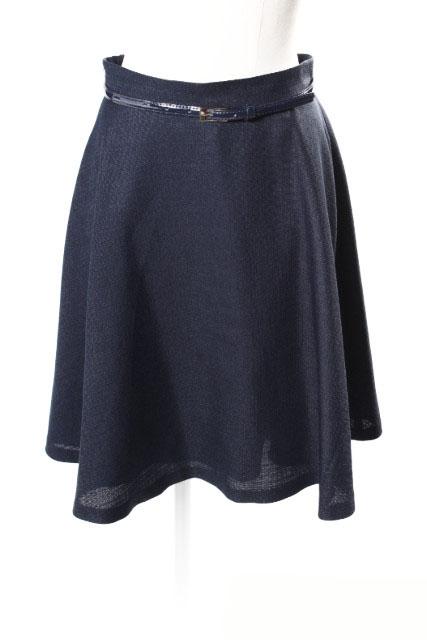 中古 レッセパッセ [ギフト/プレゼント/ご褒美] 限定モデル LAISSE PASSE ベルト付き フレアー スカート nn0515 ベクトル 190515 レディース 古着