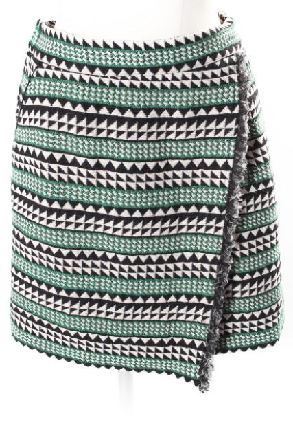 中古 SALENEW大人気 レイビームス Ray Beams 総柄 ギャザー スカート tt0515 190515 ベクトル いよいよ人気ブランド レディース 古着