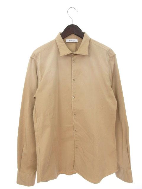 【中古】 アリーニ AGLINI 16SS シャツ 長袖 41 ベージュ ayy0516 メンズ 【ベクトル 古着】 190516
