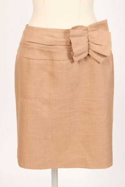 中古 アプワイザーリッシェ Apuweiser-riche リボン デザイン スカート au0605 190605 ベクトル 新品未使用 レディース 古着 授与