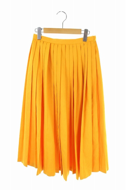 【中古】 エンフォルド ENFOLD 17SS スカート プリーツ ロング 38 オレンジ /AA ■OS レディース 【ベクトル 古着】 190604