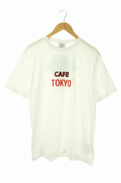 【中古】ヴェトモン ベトモン VETEMENTS 19SS Tシャツ カットソー cafeプリント 半袖 S 白 /AO ■OS ■BT メンズ 【ベクトル 古着】 191220 ベクトルプレミアム店