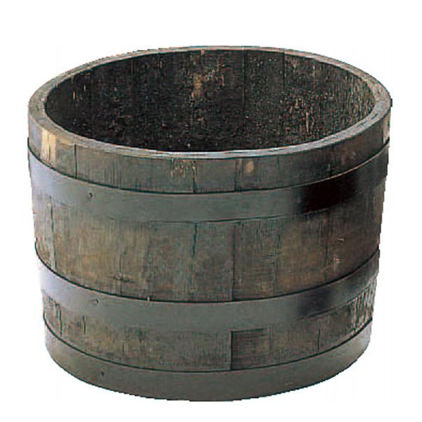 ウイスキー樽プランター 椀型 50 寄せ植え用プランター ブラック ナチュラル GB-5033 樽 タル たる 長谷川工業 Hasegawa