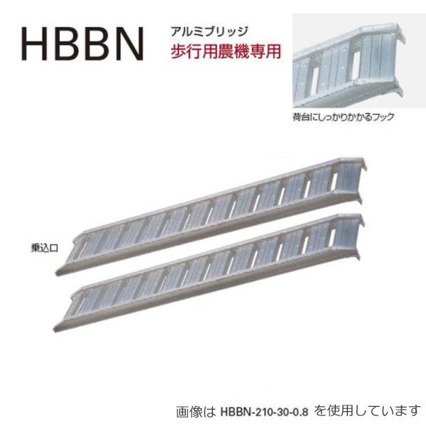 25%OFF 長谷川工業 公式通販 メーカー直送 アルミブリッジ HBBN-210-30-1.2 ハセガワ 2本1セット HBBN 歩行用農機専用