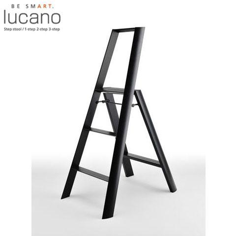 【送料無料】【lucano(ルカーノ)】【脚立】【おしゃれな踏台】 3-step(3段) ブラック ML 2.0-3(BK) 3step