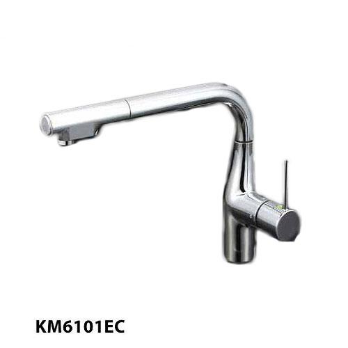 《あす楽対応》 送料無料 KM6101EC KVK/ケーブイケー eレバー 流し台用シングルレバー式シャワー付混合栓