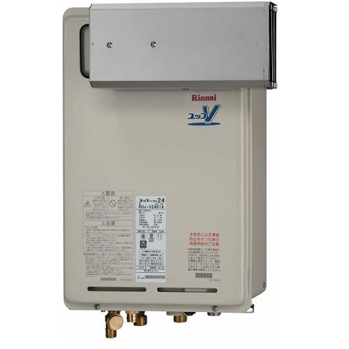 リンナイ ガス給湯器 16号 RUJ-V1611A(A) 高温水供給式 アルコーブ設置型 浴室リモコンBC-124V付属