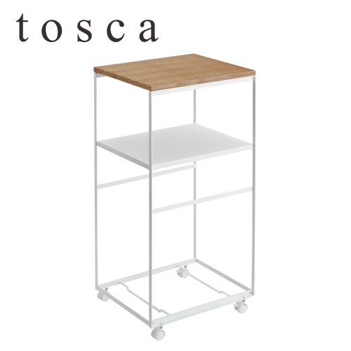 トスカ/tosca キッチンワゴン 04937 tosca【山崎実業/YAMAZAKI】白 ホワイト 木目
