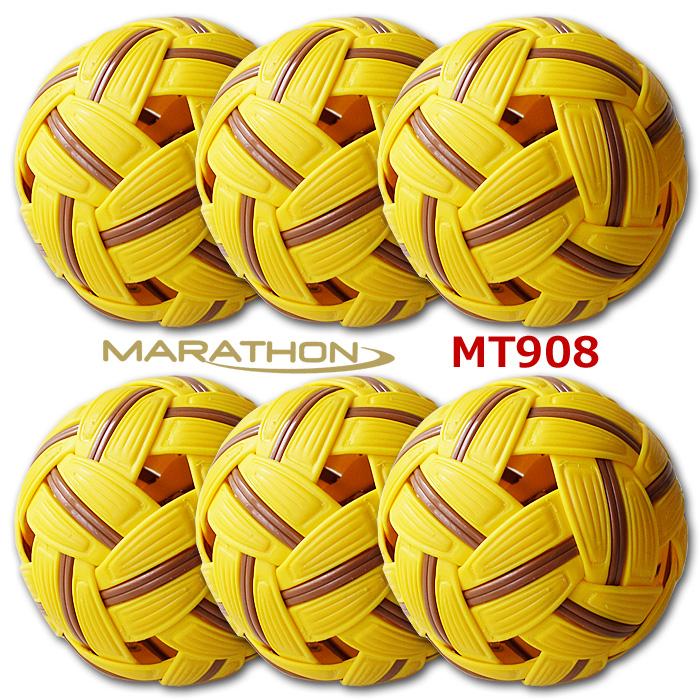 ≪お買得6個セット≫ セパタクローボール マラソン社製 MT.908 男子用 競技用ボール 大会公認球