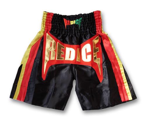 限定品 ボクシングトランクス 黒 ラスタカラー M/L/XL ロングタイプ ムエタイパンツ キックパンツ ボクシング