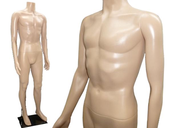 マッチョマネキン 軽量メンズヘッドレスマネキン 男性/肌色(2)