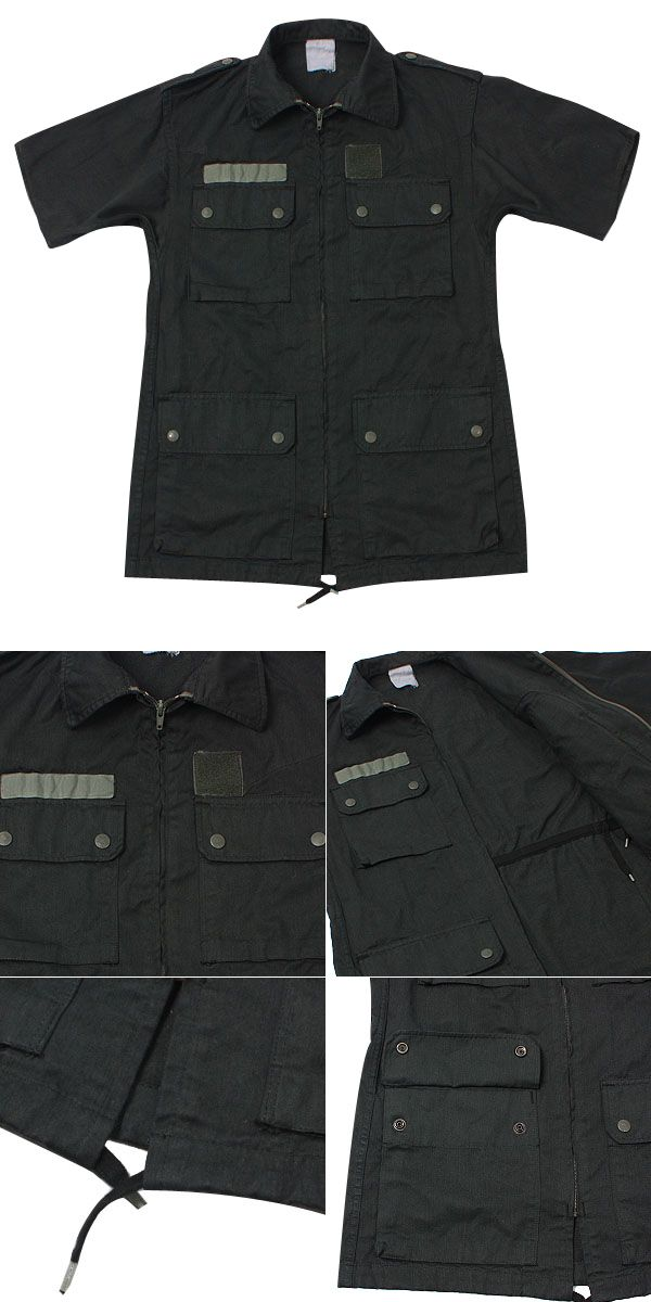 Real new France military air force short sleeve jacket black military jacket short sleeve Short Sleeve Tops men's after dyeing processing France France air army