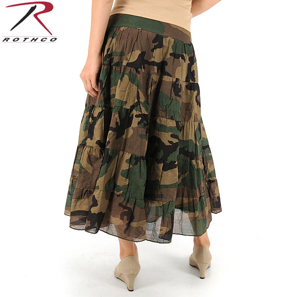 ROTHCO rothco Womens gauze skirt woodland camouflage ladies military T shirts with camouflage Camo pattern WIP ROTHCO Rothko