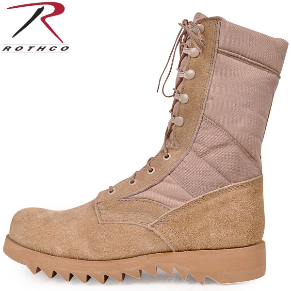 ROTHCO rothco military jungle bootripplesole Desert Tan military boots boot uppers are suede leather (leather is used) WIP ROTHCO Rothko boots ROTHCO Rothko.