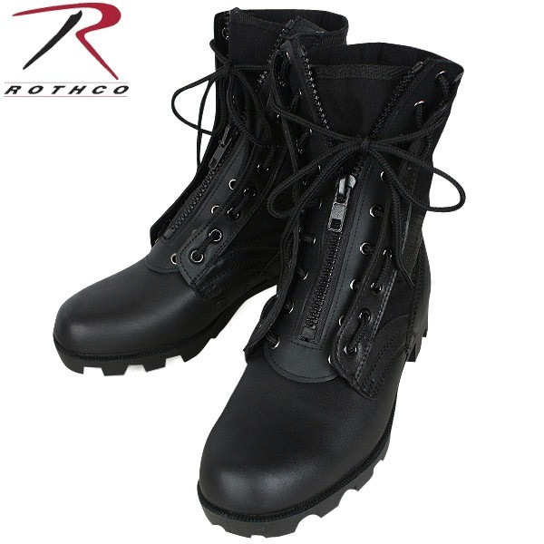 ROTHCO Rothko boots ROTHCO Rothko ROTHCO rothco military leather pilot boots zip undress and easy to wear with a zipper