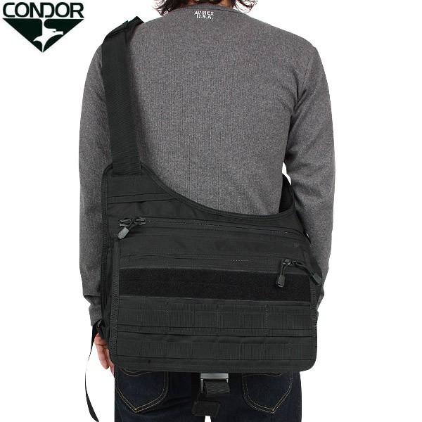 [ミリタリー バッグ] CONDOR コンドル タクティカル メッセンジャーバッグ BLACK 体に沿ってフィットする設計で作られています ミリタリー バッグ 【クーポン対象外】 WIP メンズ ミリタリー アウトドア キャッシュレス 5%還元