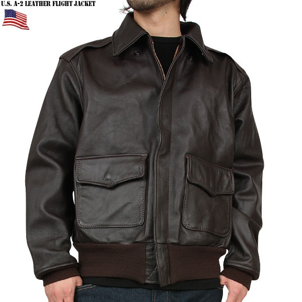 Real brand new U.S. air force a-2 leather flight jacket mss WIP mens