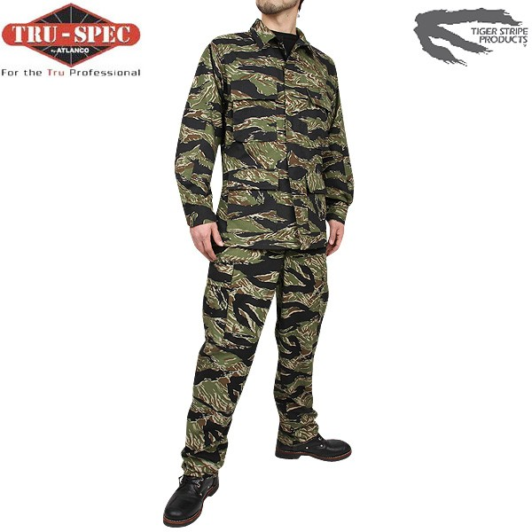 Sabage clothes TRU-SPEC true spec military BDU Vietnam Tiger Stripe jacket original betnamteiger stripe pattern is very atmosphere excellent texture, rich in hygroscopic cotton 100% fabric WIP sabage clothing