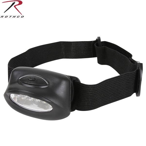 15%OFFクーポン対象◆ROTHCO ロスコ 5LED ヘッドランプ 高輝度LEDを5個搭載した軽量ヘッドライト 両手が使えるので防災・停電時に最適 ROTHCO ロスコ WIP メンズ ミリタリー アウトドア