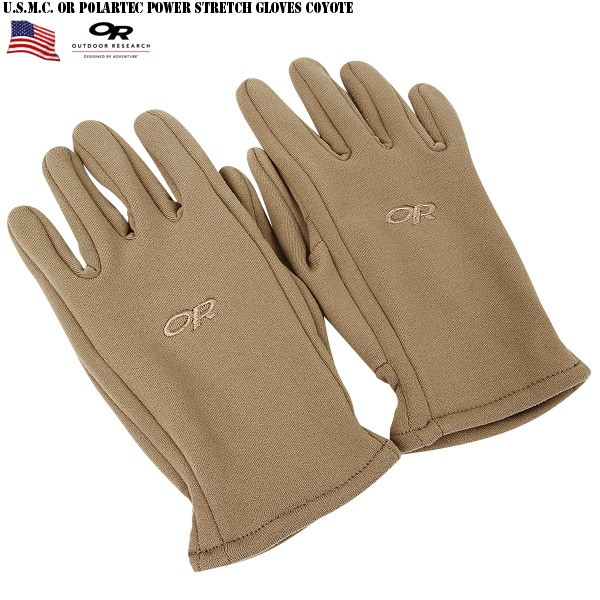 Weaving gloves with x-static antibacterial anti-odor materials attractive new U.S. Marines U. S. M. C. OR Polartec Power Stretch GLOVE Coyote superior breathability and moisture-permeable material of WIP