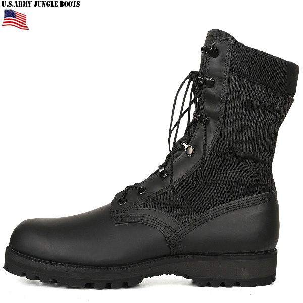 Hard to find item WIP has used many of the preeminent rare real new U.S. black jungle boots us real emission products deadstock comfort 3 layer Vibram uncirculated