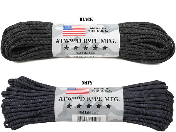 밧줄 밀리터리 ATWOOD ROPE MFG. 앳 우드/로프 7Strand 550 파라 코드 100 피트 67 색 밧줄 낙하산 코드 30m 방재 밀리터리 아웃 도어 서바이벌 サバゲー 파라 코드 낙하산 코드