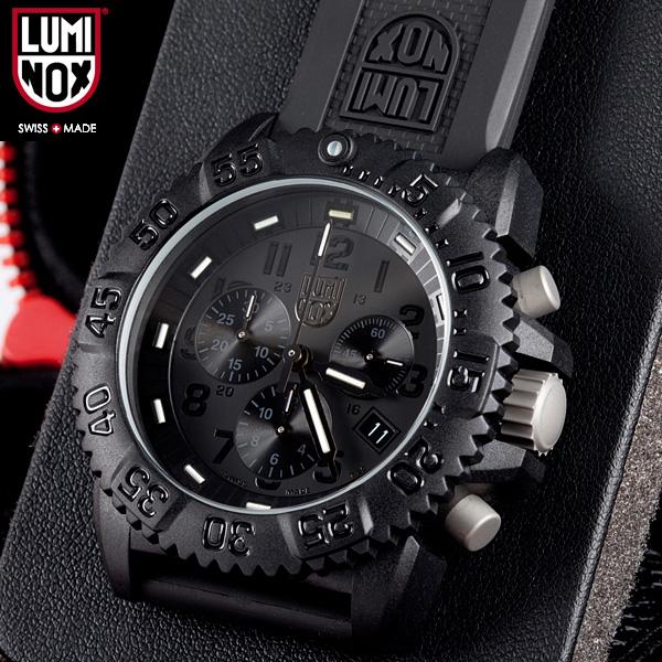 LUMINOX Luminox watch 3081 BLACKOUT NAVY SEALs a COLOR MARK CHRONOGRAPH SERIES WIP