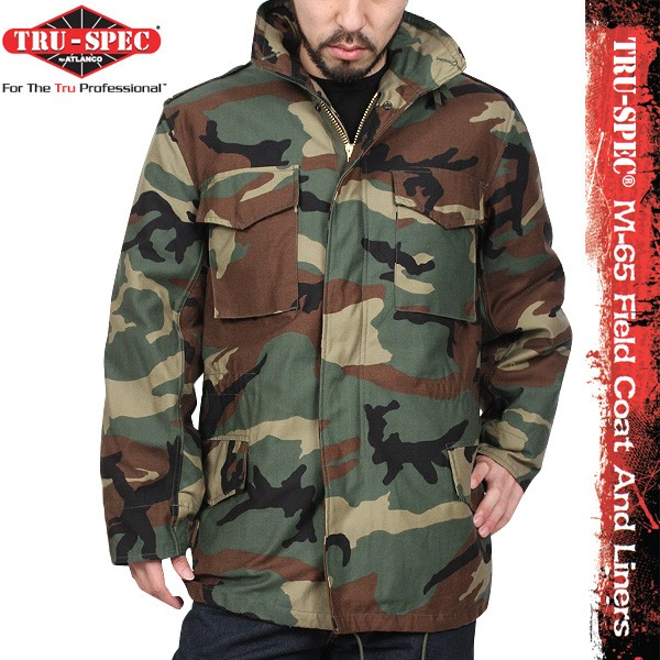 Tru Spec Mens M 65 Field Jacket with Liner Military