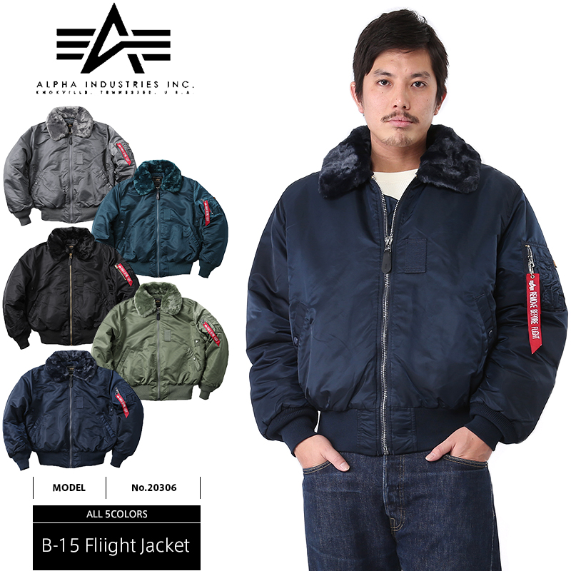d057cba731a Men s outerwear ALPHA INDUSTRIES Alpha industries USA b-15 flight jacket 5  colors on collar bore than the MA1 further warmth! ALPHA INDUSTRIES B15  military ...