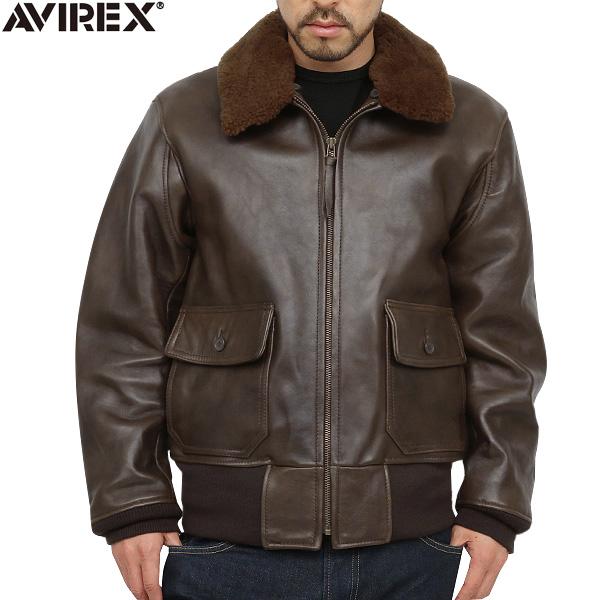 6181014 AVIREX avirexl BASIC g-1 leather flight jacket avirex avirex mens military jackets / genuine avirex-AVIREX
