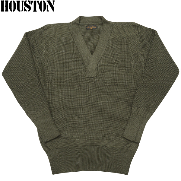 Exclusive sales model knit sweater command sweater was reprinted paid HOUSTON Houston A-1 sweater OLIVE World War II United States Army Air Corps mechanics Type A-1 sweater