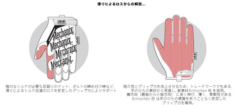 사바게이그로브 Mechanix Wear 기계학 웨어 Original Grip Glove (오리지날 그립 글로브) 내구성과 그립력을 향상시키기 위해 손바닥측의 소재로부터 재검토해 신소재 Armortex를 채용 사바게이그로브 mss WIP 맨즈