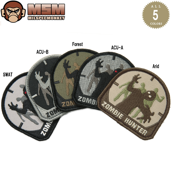 Any mil-spec MONKEY mil-spec Monkey patches (patch) Zombie Hunter Arid joke patches in the famous mil-spec Monkey patches bag or jacket Velcro Panel with various customizable WIP