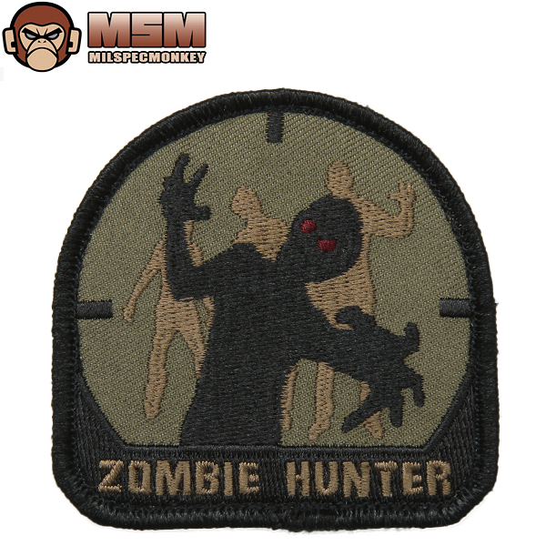 Any mil-spec MONKEY mil-spec Monkey patches (patch) Zombie Hunter Forest joke patches in the famous mil-spec Monkey patches bag or jacket Velcro Panel with various customizable