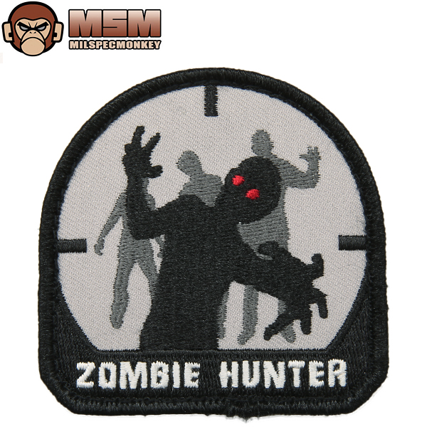 Any mil-spec MONKEY mil-spec Monkey patches (patch) Zombie Hunter SWAT joke patches in the famous mil-spec Monkey patches bag or jacket Velcro Panel with various customizable WIP